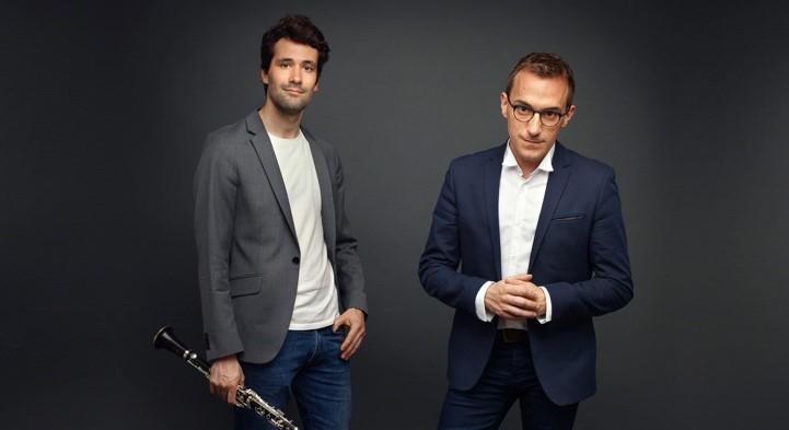 Photo de Félicien Brut – accordéoniste - et Renaud Guy Rousseau – clarinettiste