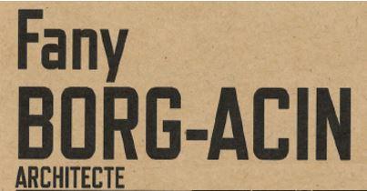Fany Borg-Acin - Architecte