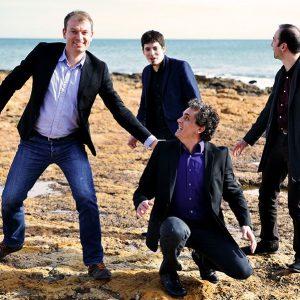 Quatuor Caliente : piano, bandonéon, contre basse et violoncelle